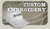 Custom Hat Embroidery on any of our Blank Hat Selection!